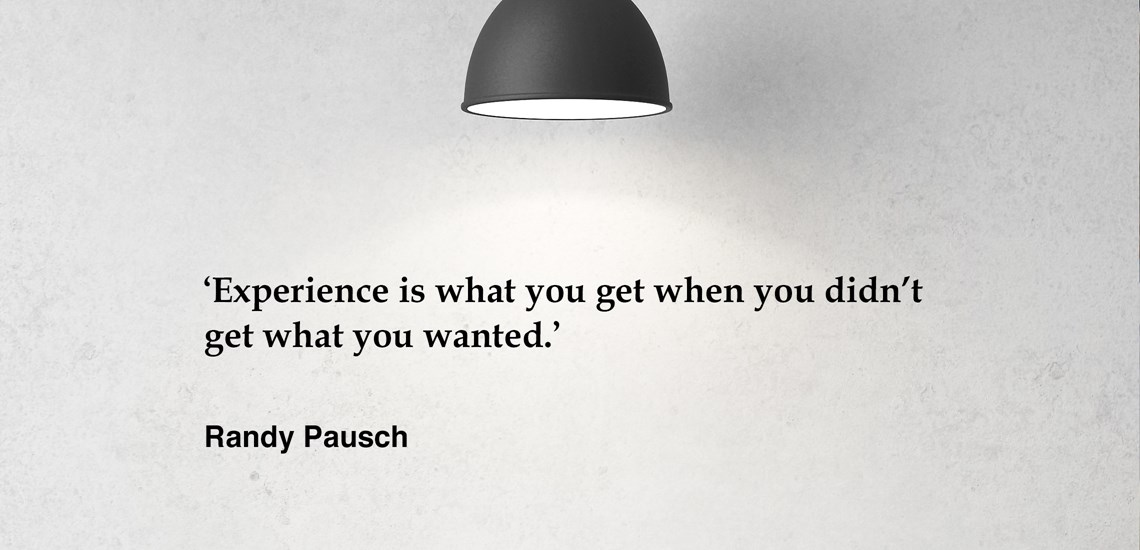 Quote by Randy Pausch for the Learning To Win Programme